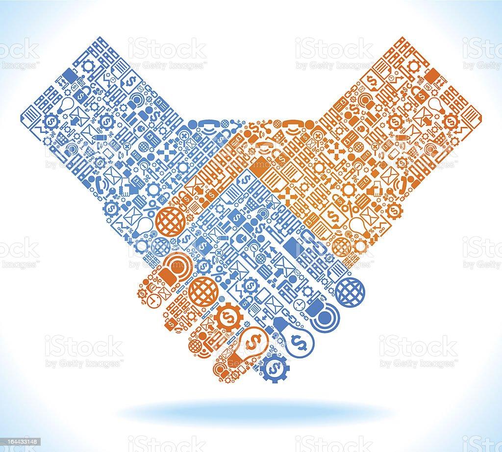 hand shake symbol vector art illustration