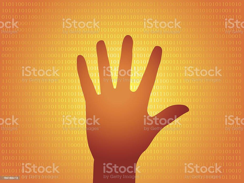 Hand silhouette vector art illustration