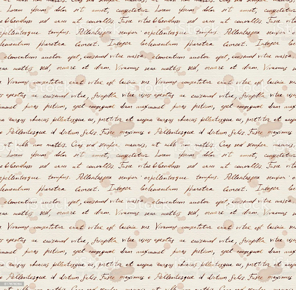 Hand writing note - latin text Lorem ipsum. Repeating pattern vector art illustration