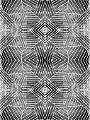 Handcut Linoleum Geometric Stripes Background Pattern
