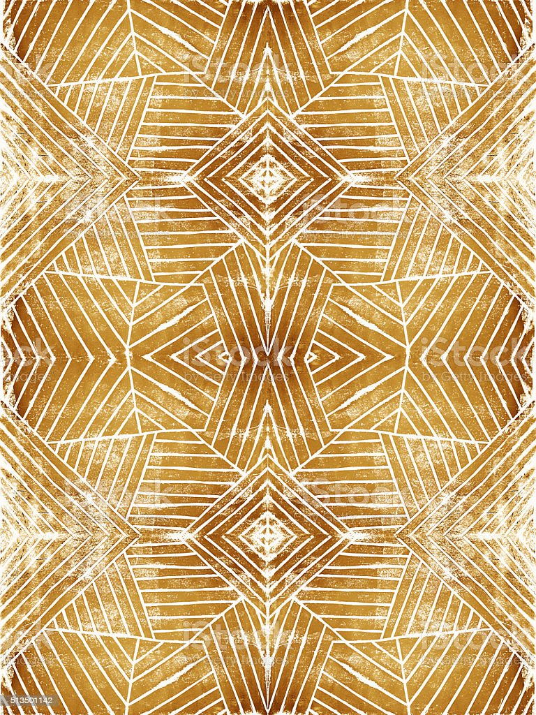 Handcut Linoleum Geometric Stripes Background Pattern vector art illustration