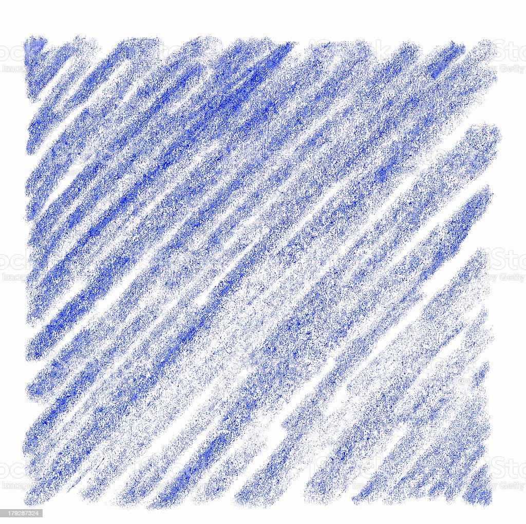 Hand-drawn Blue Crayon Square vector art illustration