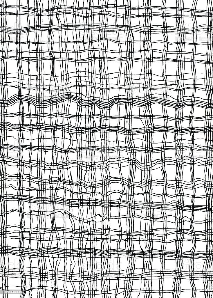 Hand-drawn Line Pattern royalty-free stock vector art