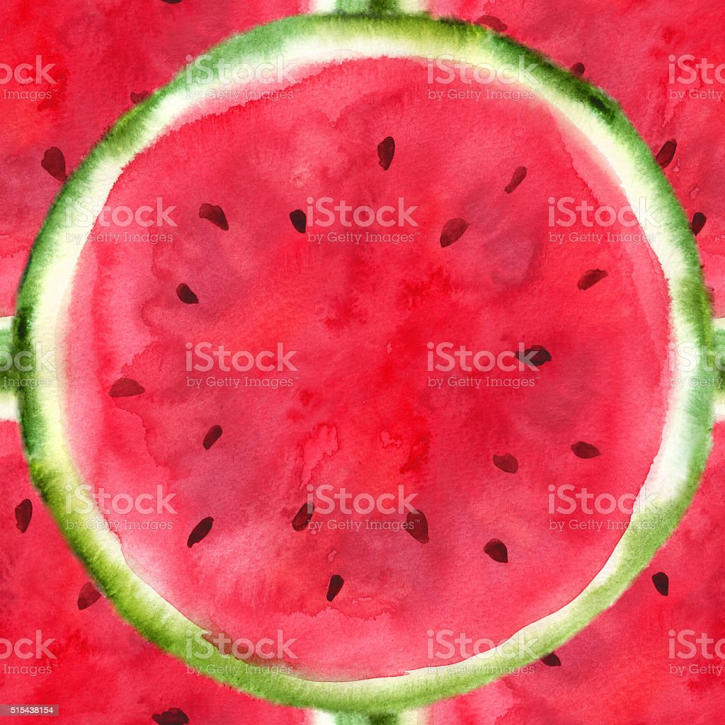 hand-drawn sliced watermelon vector art illustration
