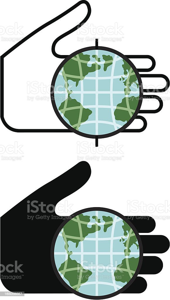 Hand/Globe royalty-free stock vector art