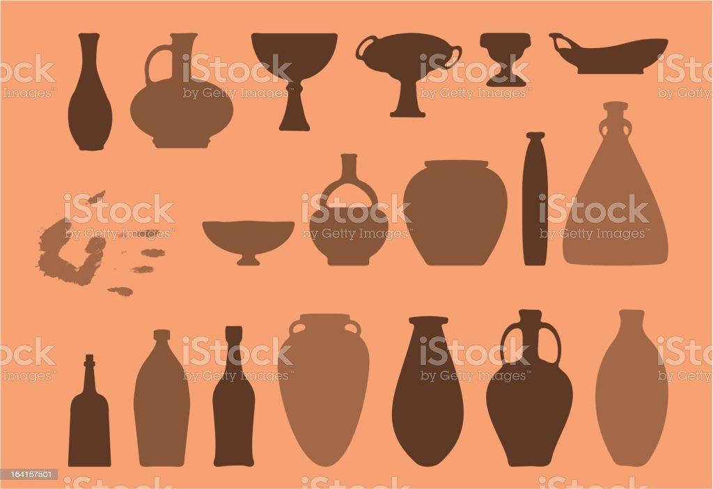 Handmade Crockery royalty-free stock vector art