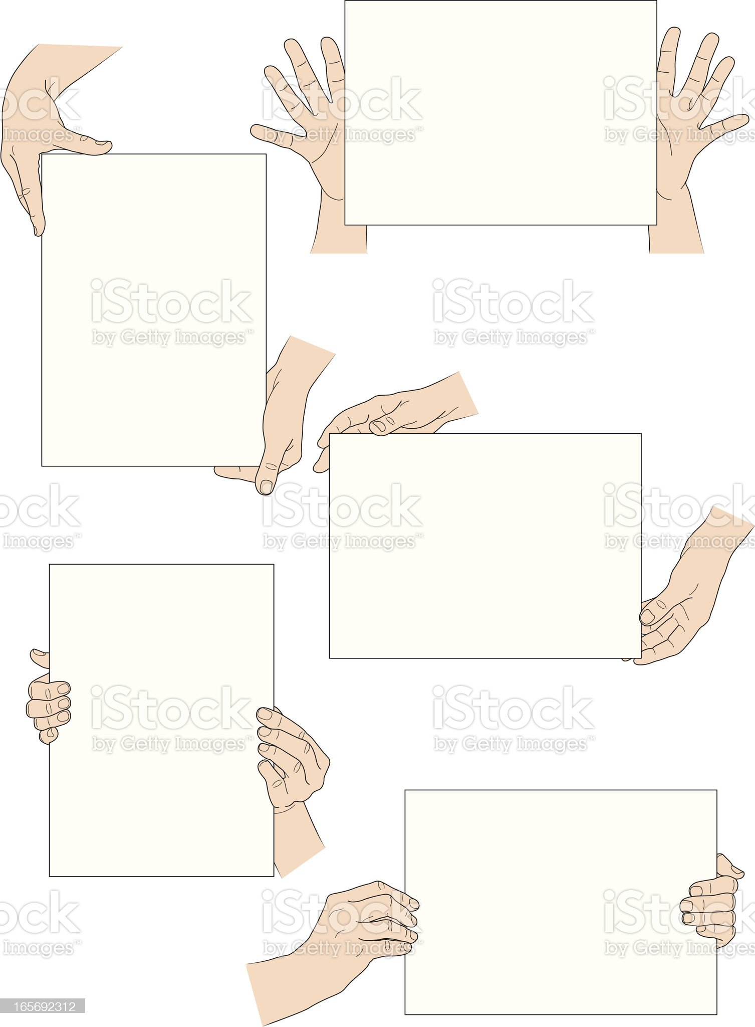 Hands and signs royalty-free stock vector art