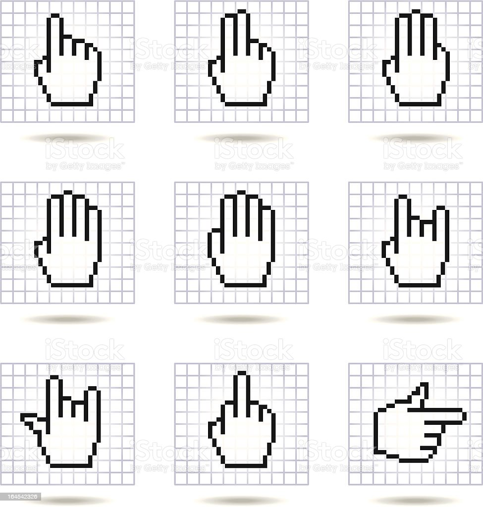 hands icon set 2 royalty-free stock vector art