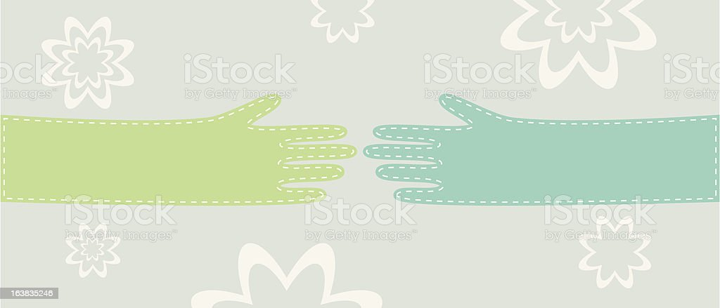 Hands Touch royalty-free stock vector art