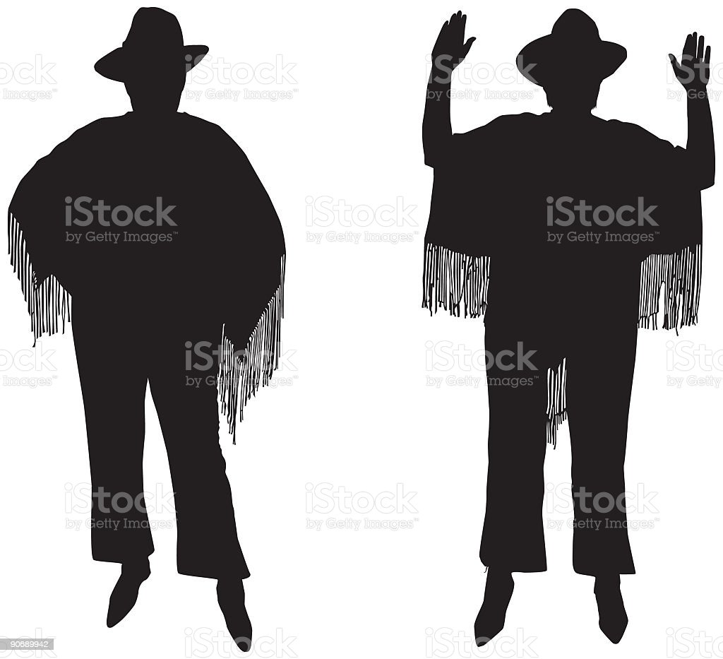 Hands Up Western (Vector) royalty-free stock vector art