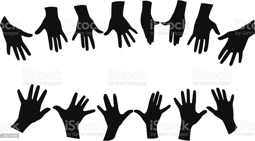 hands vector royalty-free stock vector art