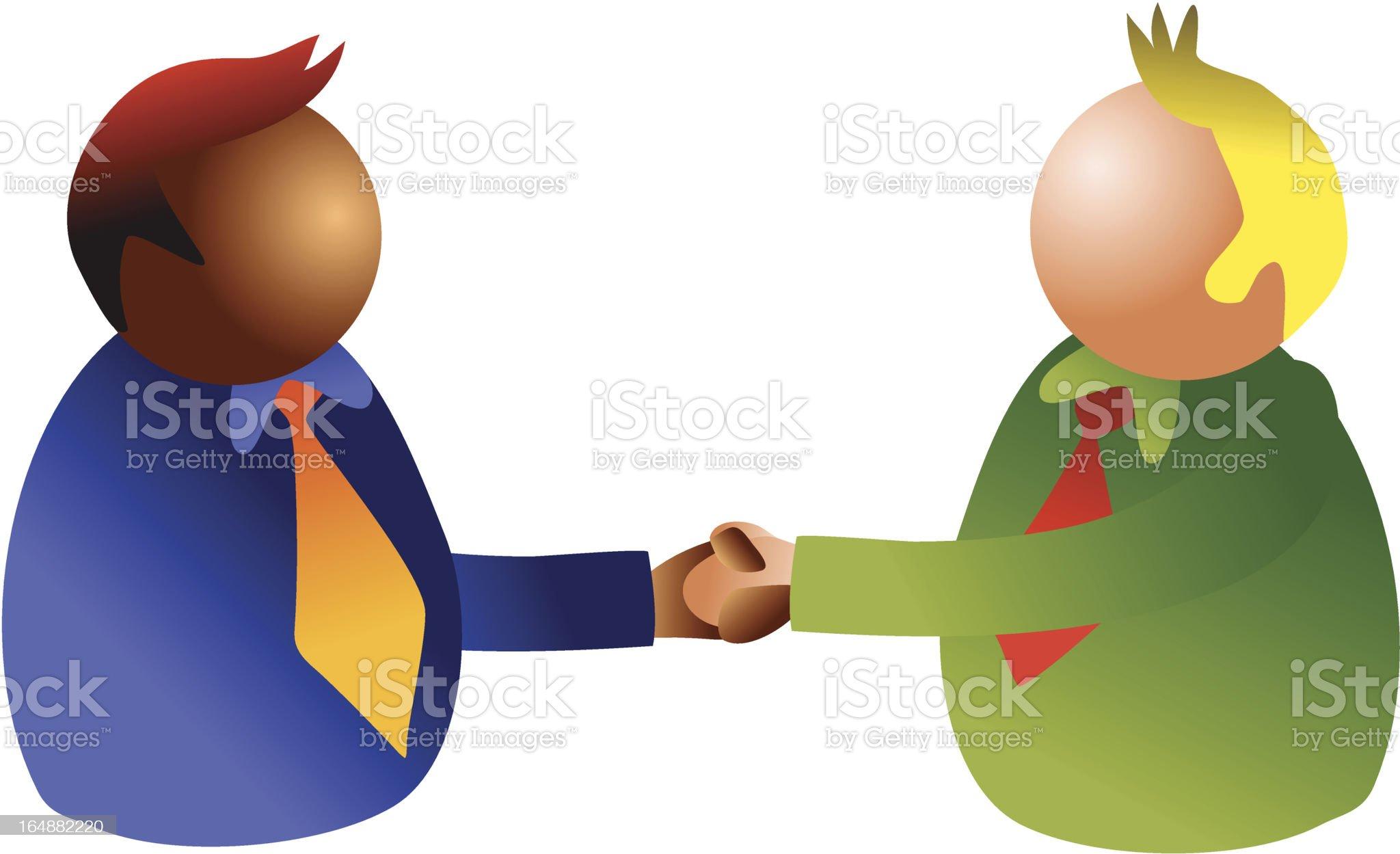 handshake royalty-free stock vector art
