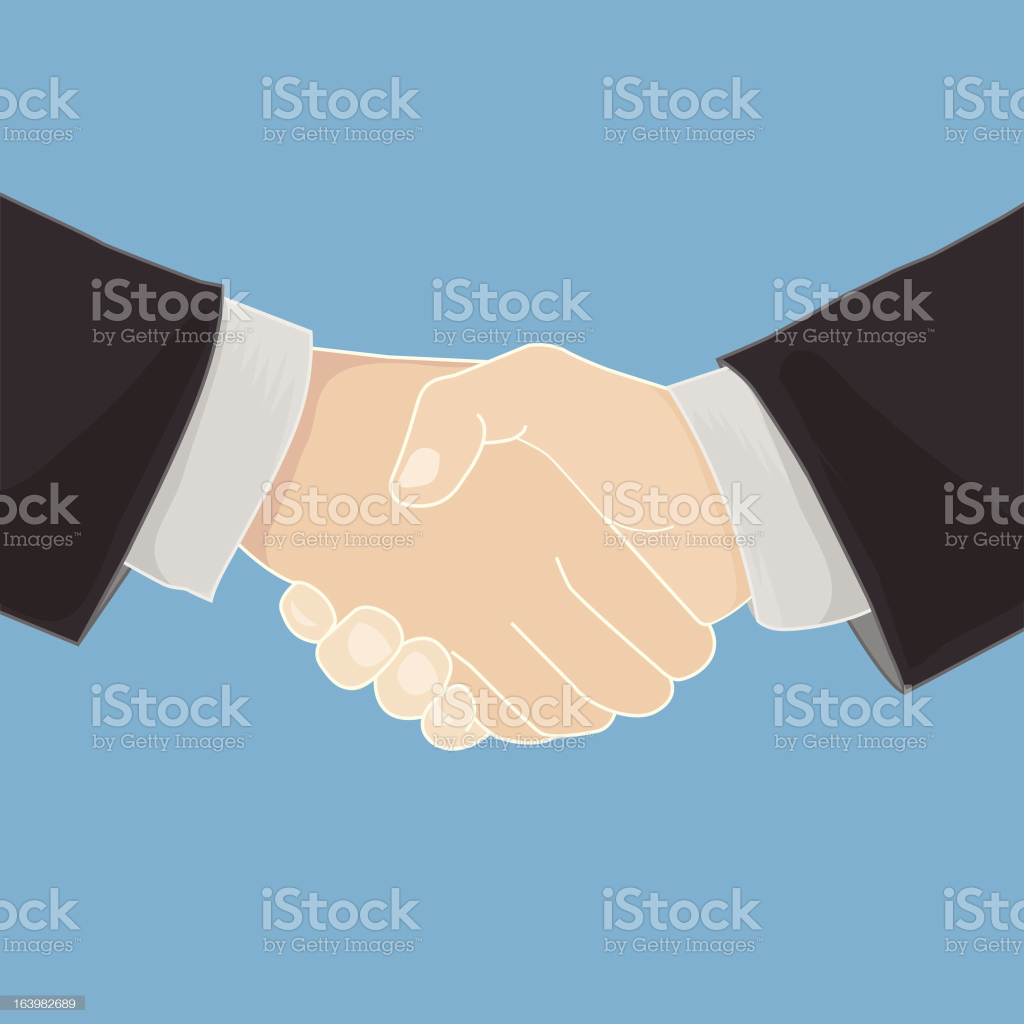 handshake in a businesslike manner royalty-free stock vector art