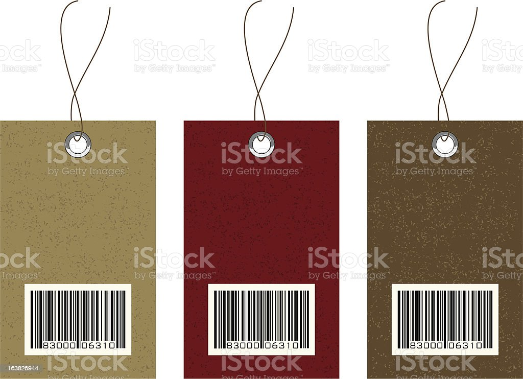 Hang Tags with Barcode royalty-free stock vector art