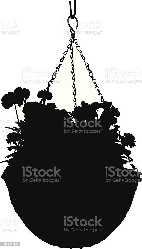 Hanging Basket silhouette royalty-free stock vector art