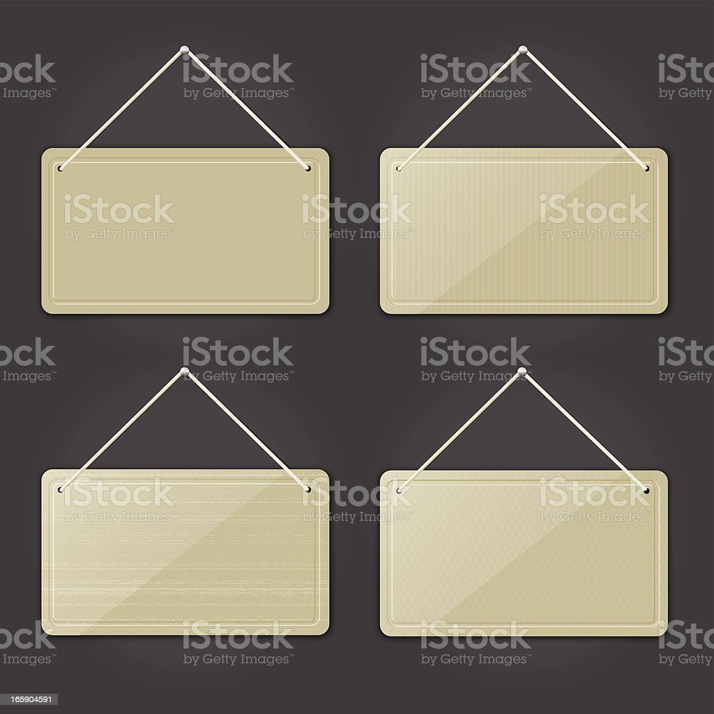 Hanging Letterpress Tags royalty-free stock vector art