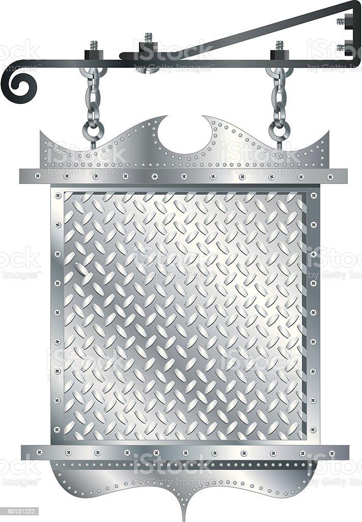 Hanging Metal Sign royalty-free stock vector art