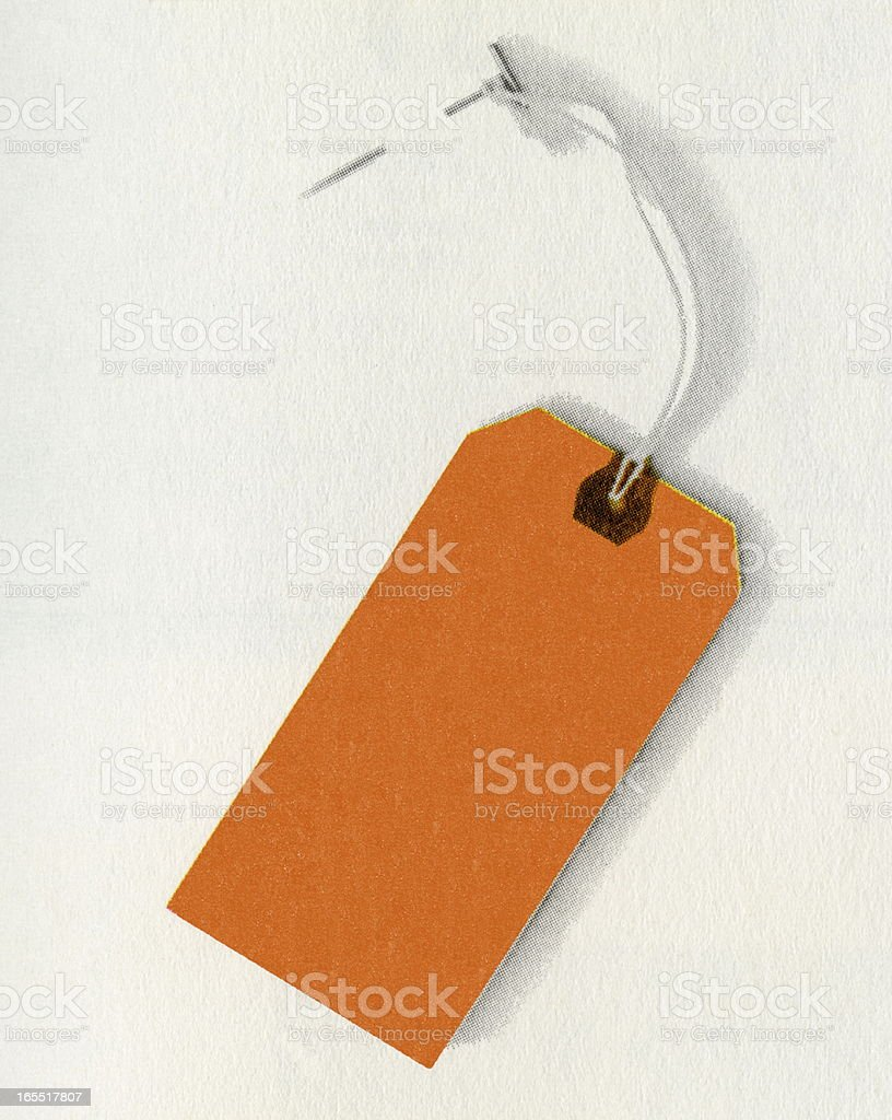 Hanging Tag royalty-free stock vector art