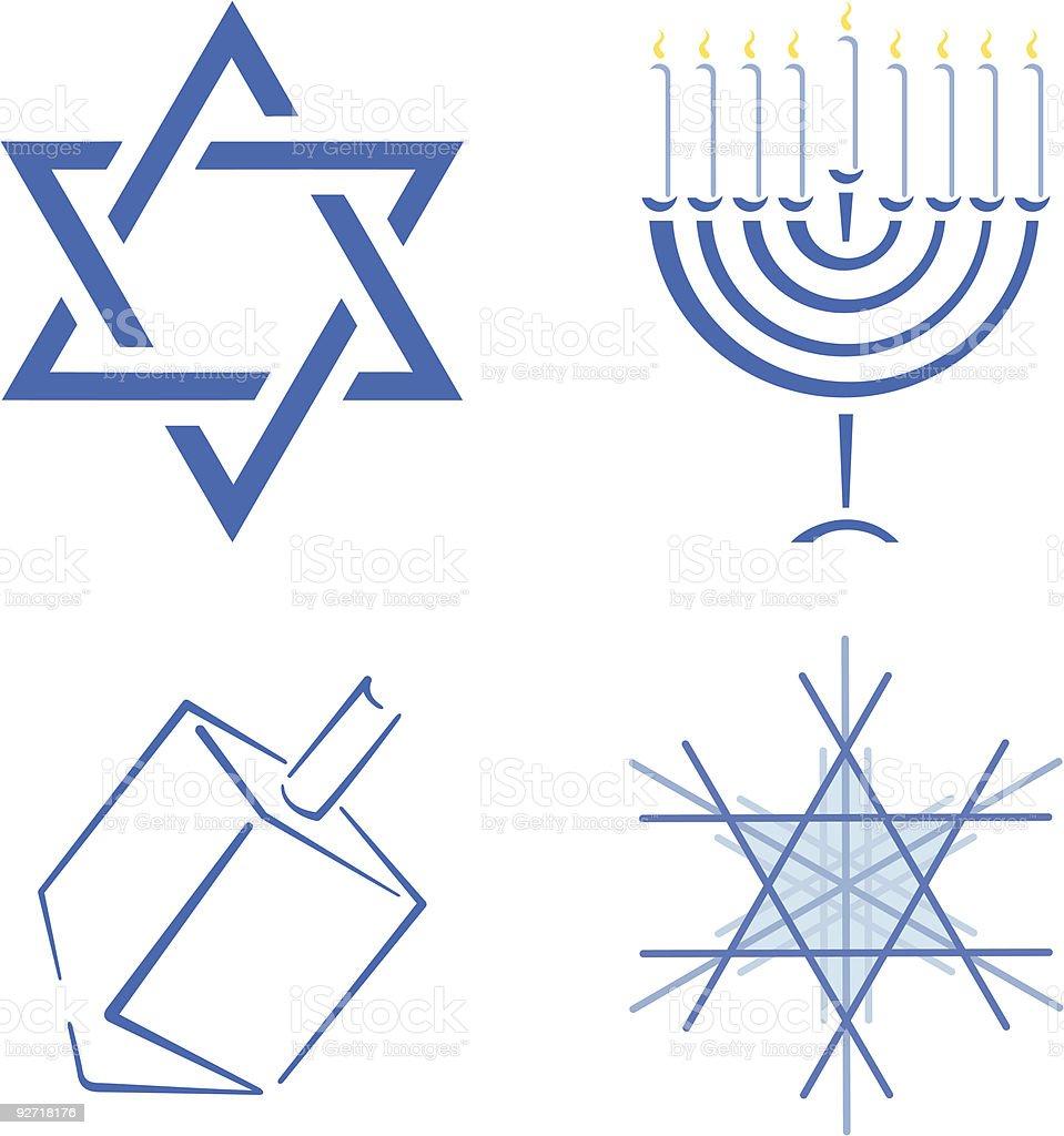 Hanukah Design Set royalty-free stock vector art
