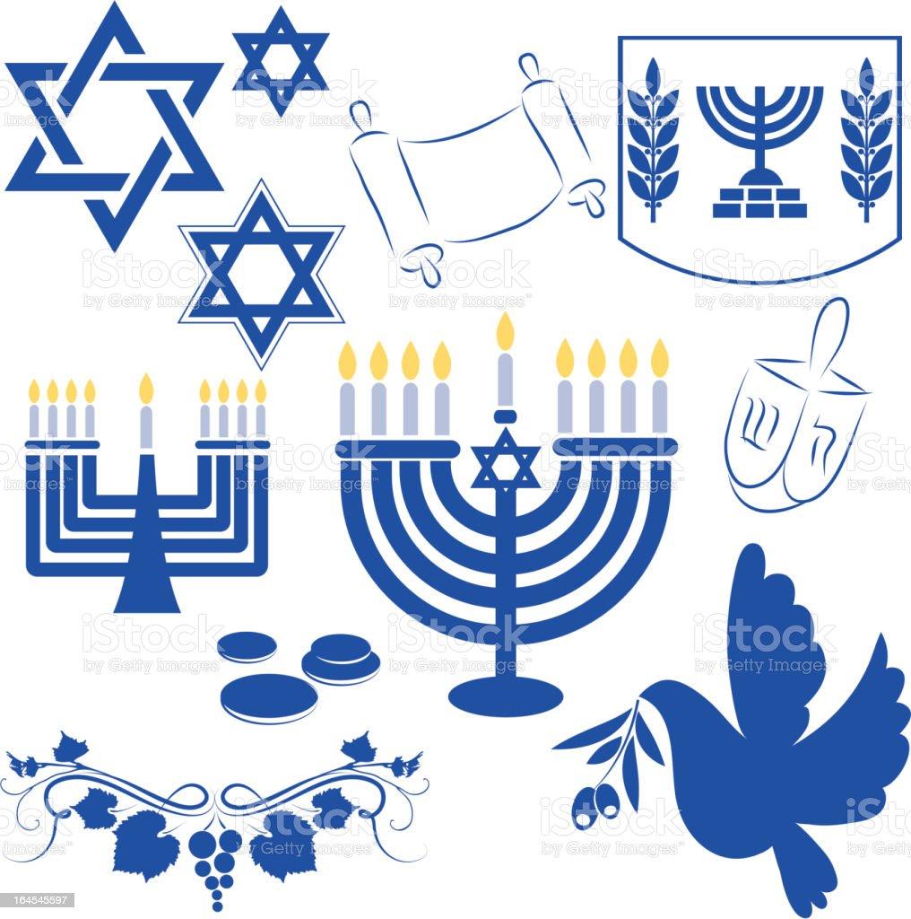 Hanukkah symbol royalty-free stock vector art