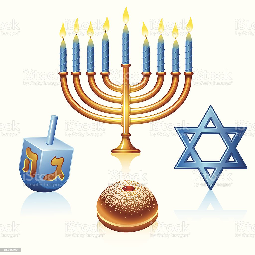 Hanukkah Symbols royalty-free stock vector art