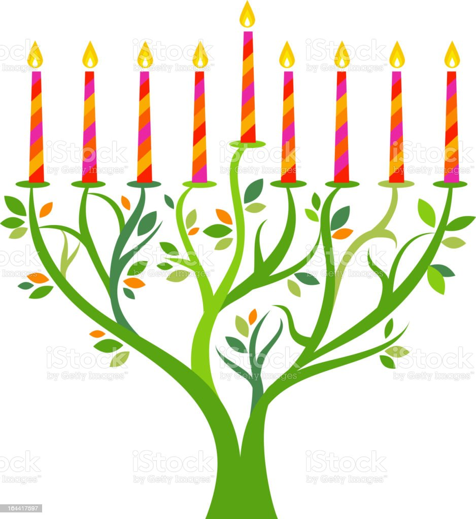 Hanukkah tree royalty-free stock vector art