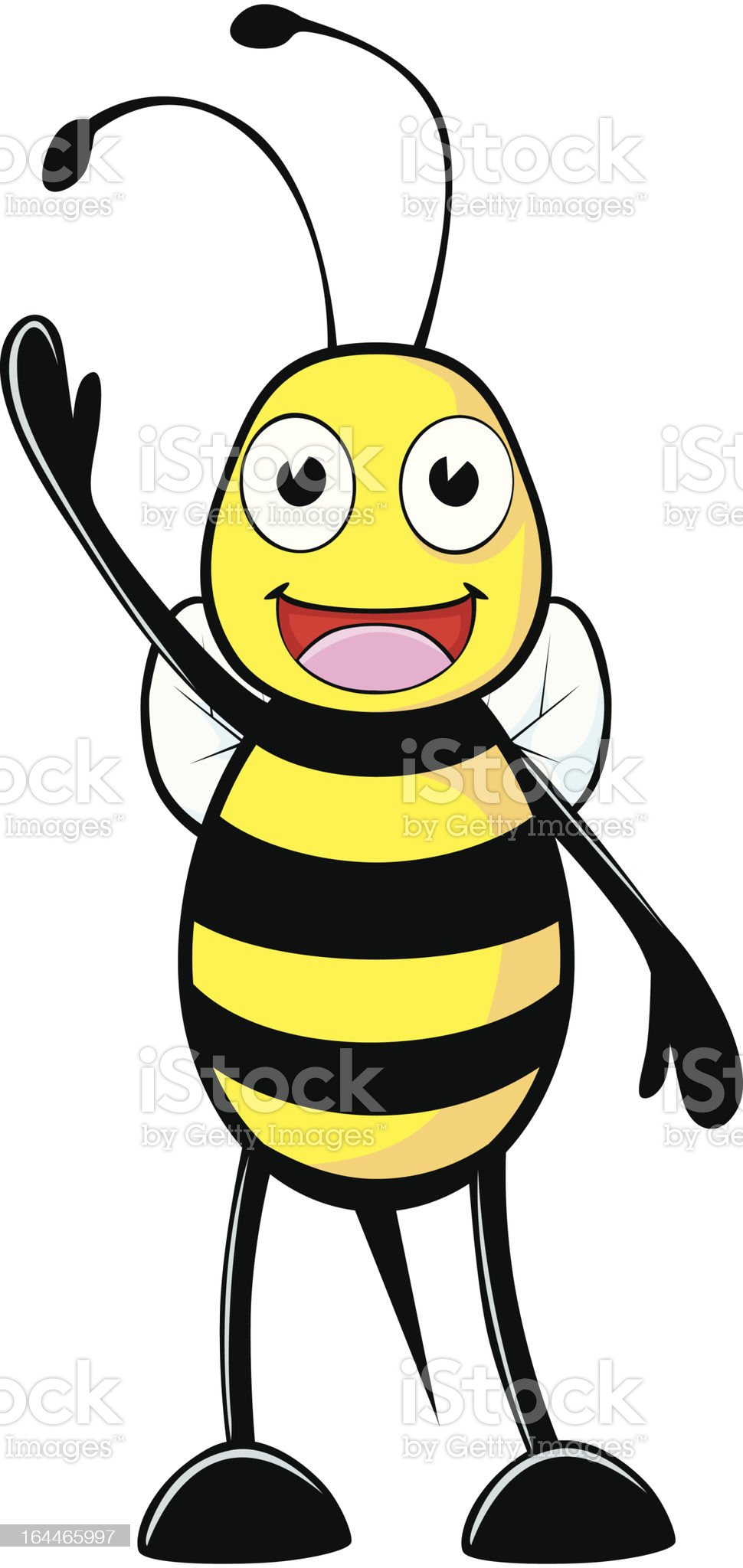 Happy Bee Welcoming You royalty-free stock vector art