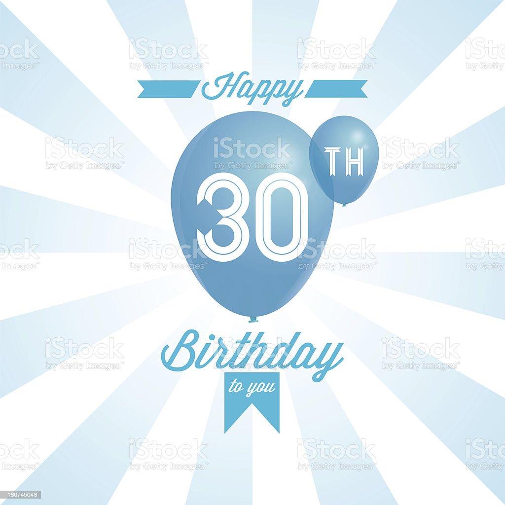 Happy birthday background royalty-free stock vector art