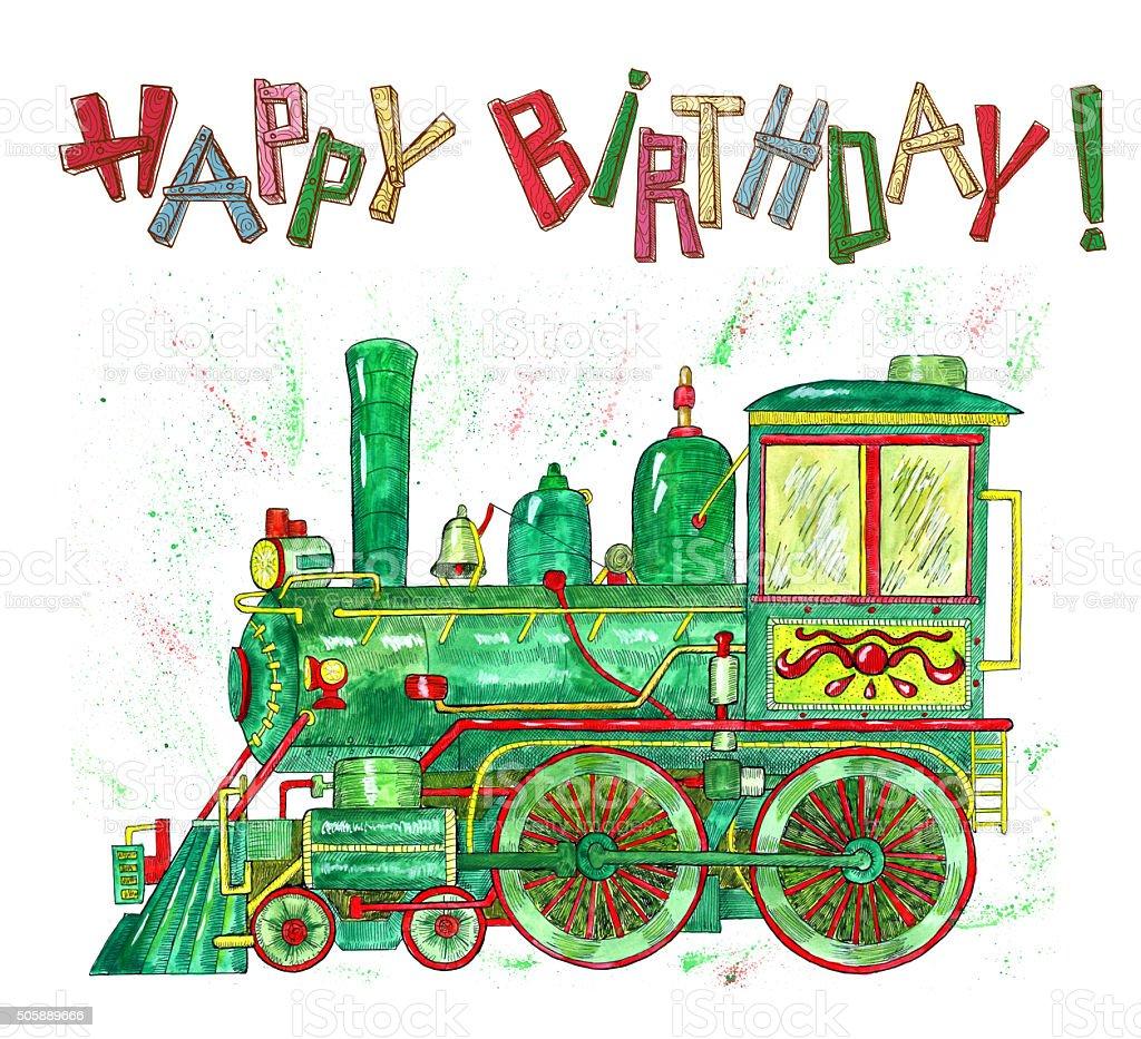 Открытка машинисту с днем рождения