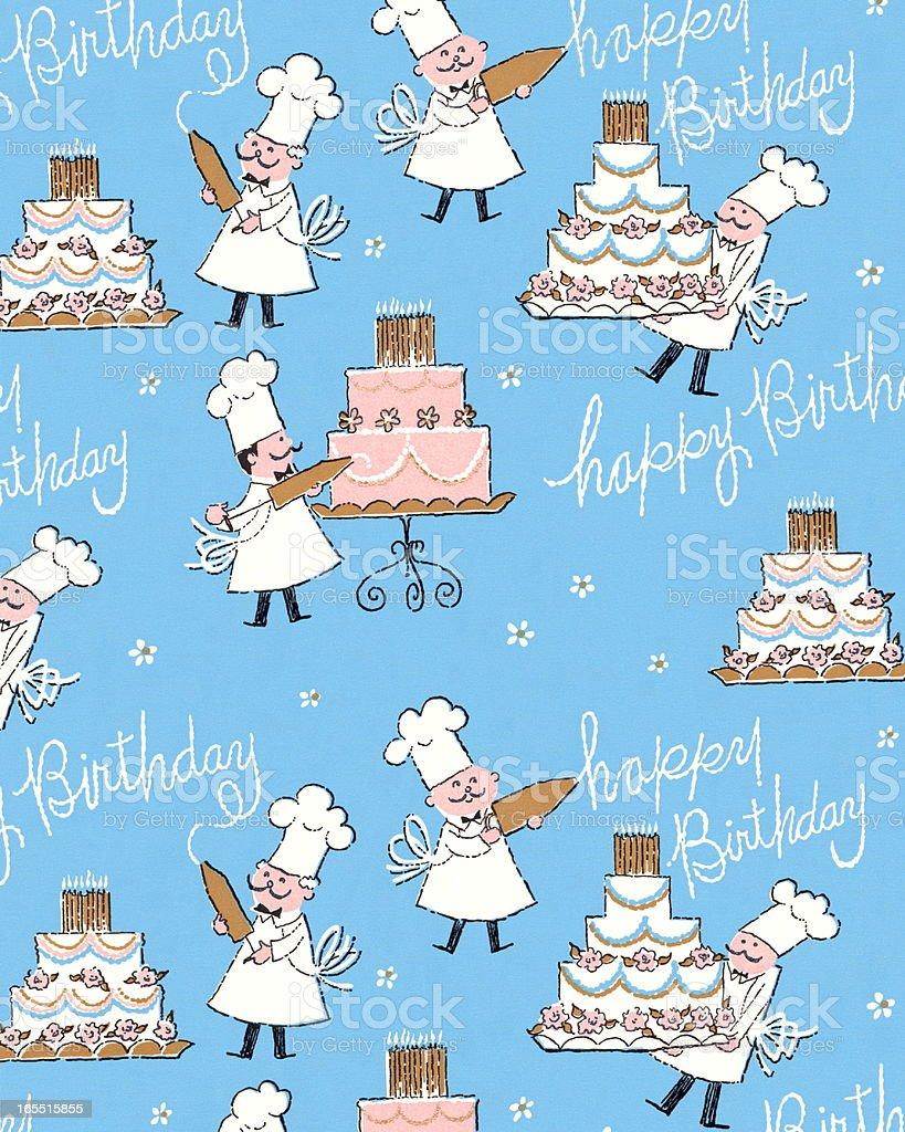Happy Birthday Pattern royalty-free stock vector art