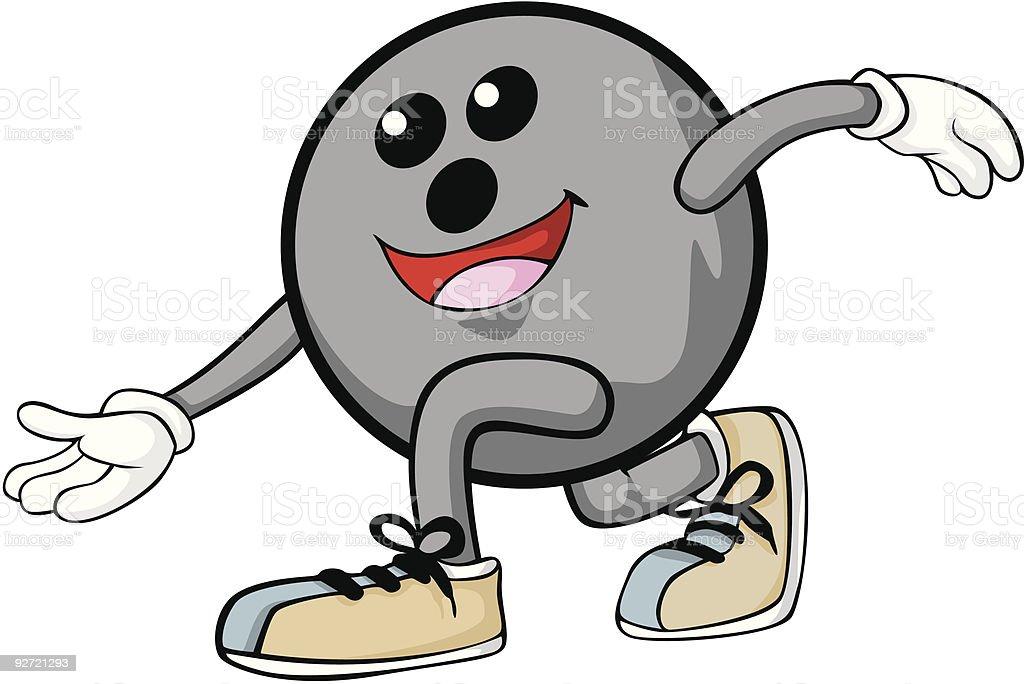 Happy Bowling vector art illustration