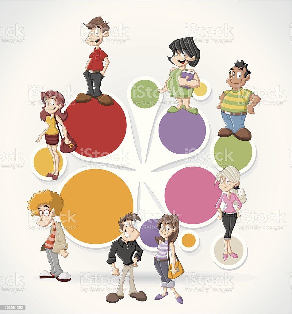 happy cartoon people royalty-free stock vector art