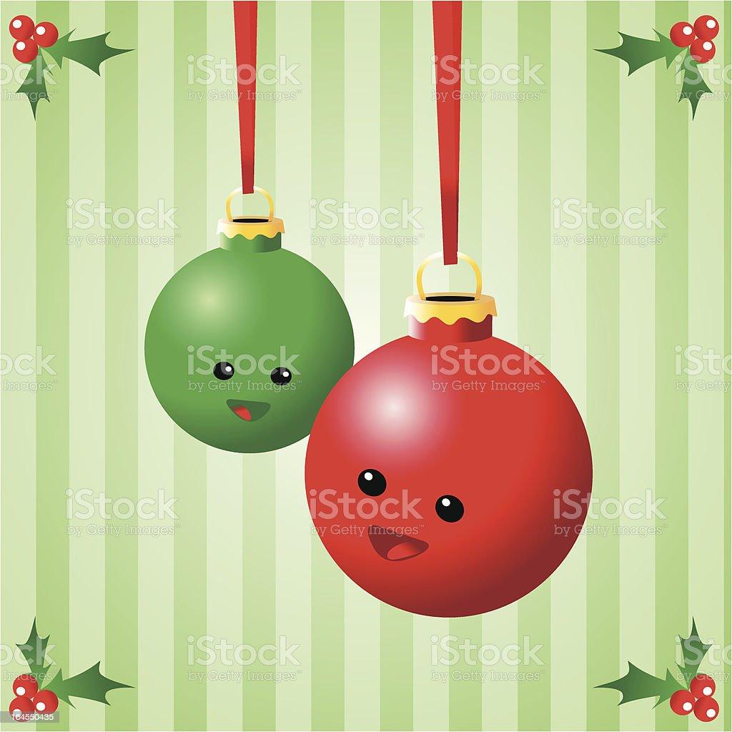 Happy Christmas Ornaments vector art illustration