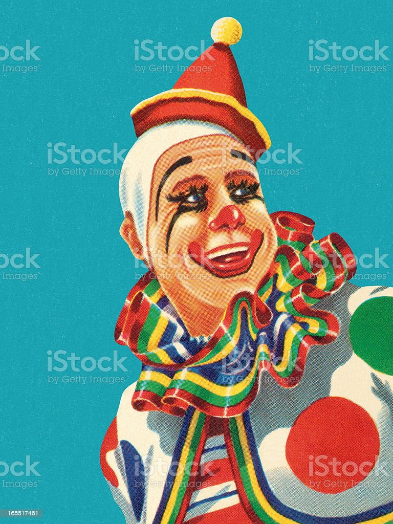 Happy Clown royalty-free stock vector art