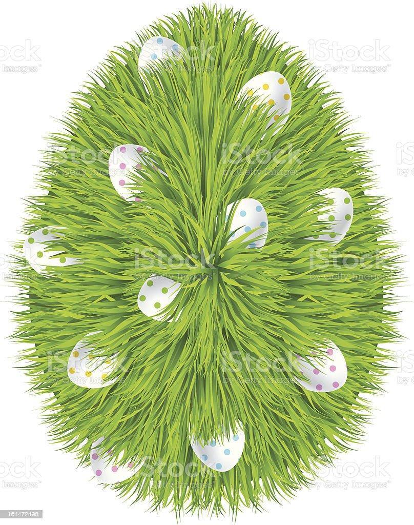 Happy Easter. Grass egg symbol. eps 10 royalty-free stock vector art