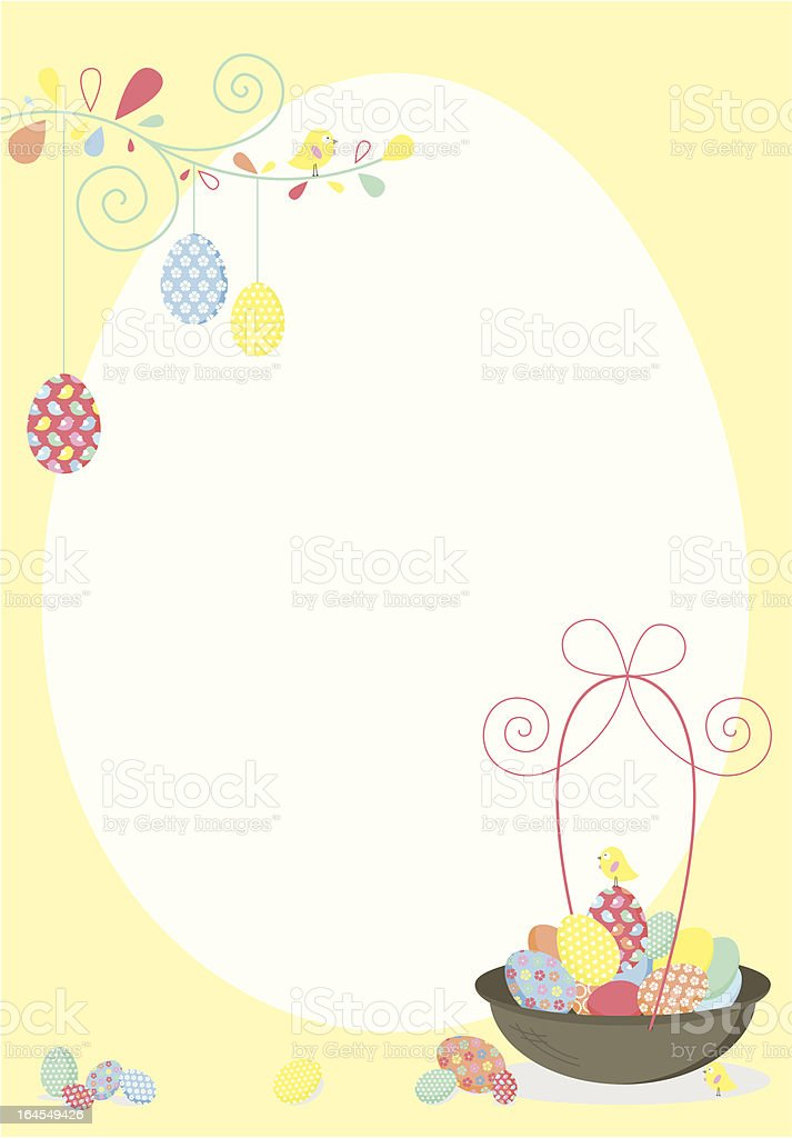 Happy Easter Holiday Invite or Sign royalty-free stock vector art