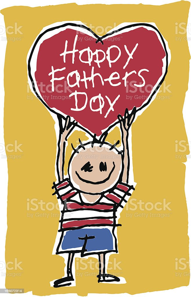 Happy Fathers Day royalty-free stock vector art