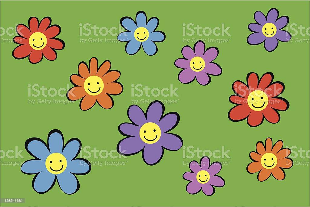 happy flowers royalty-free stock vector art