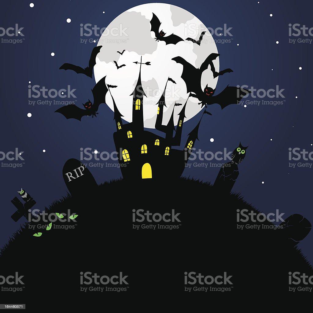 Happy halloween card royalty-free stock vector art