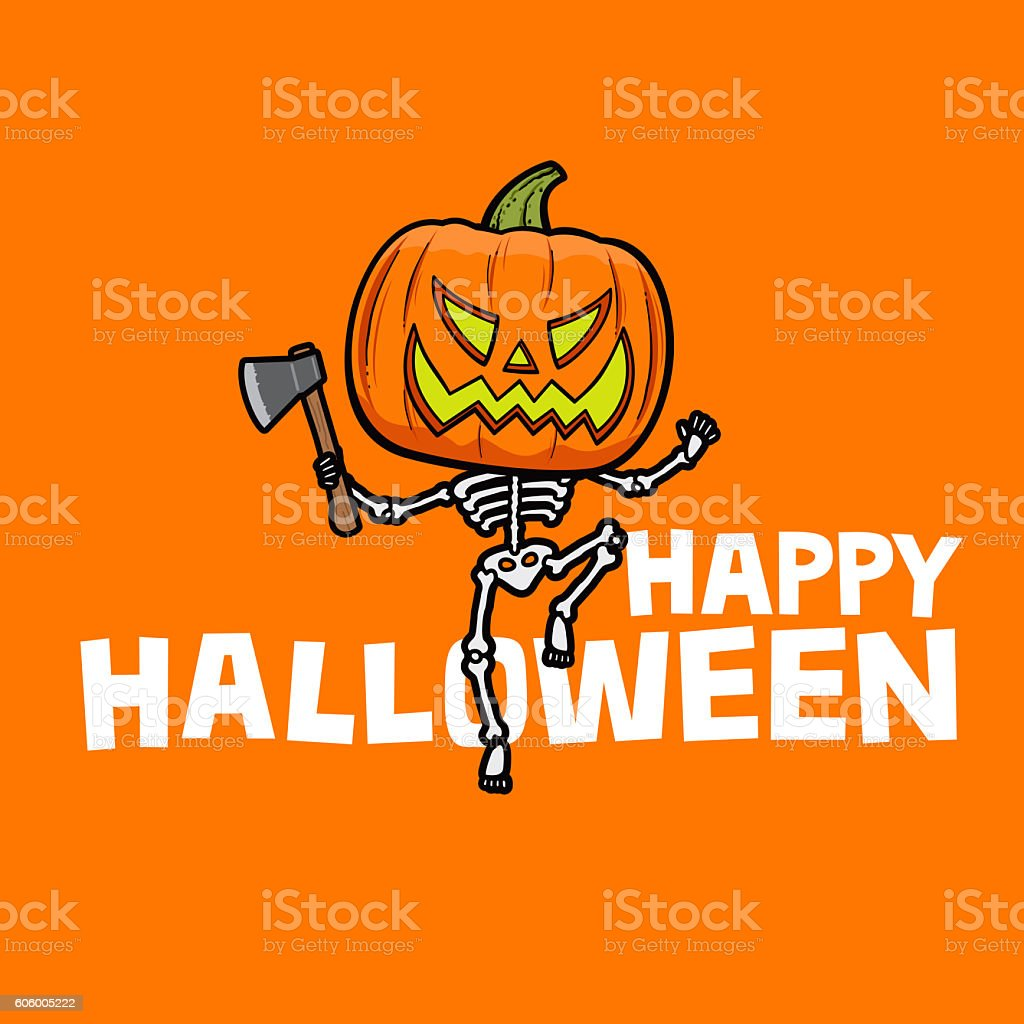 Happy Halloween card vector art illustration