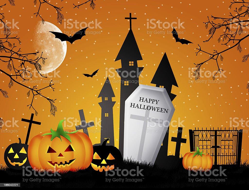 Happy Halloween royalty-free stock vector art