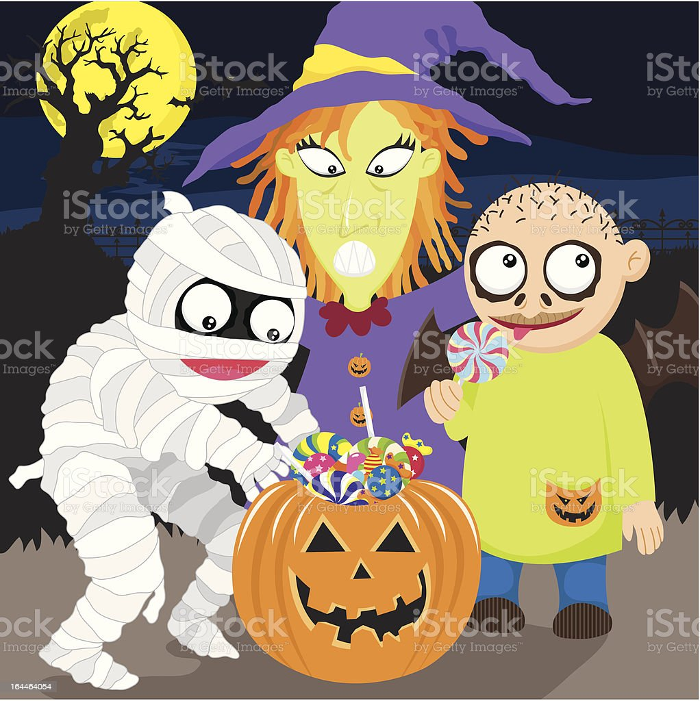 Happy Halloween Trick Or Treat royalty-free stock vector art