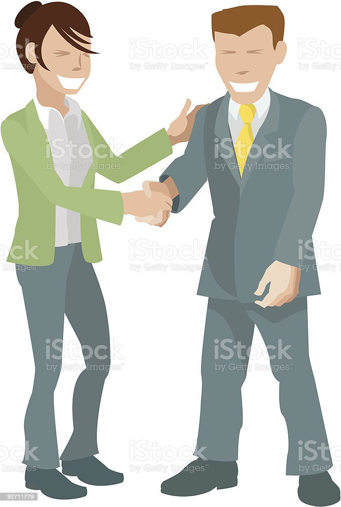 happy handshake royalty-free stock vector art