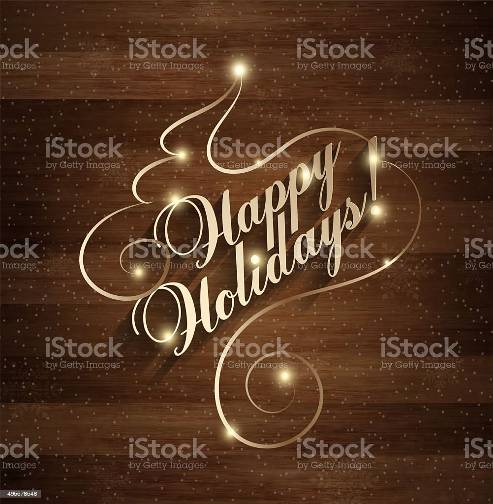 Happy Holiday Christmas And New Year vector art illustration
