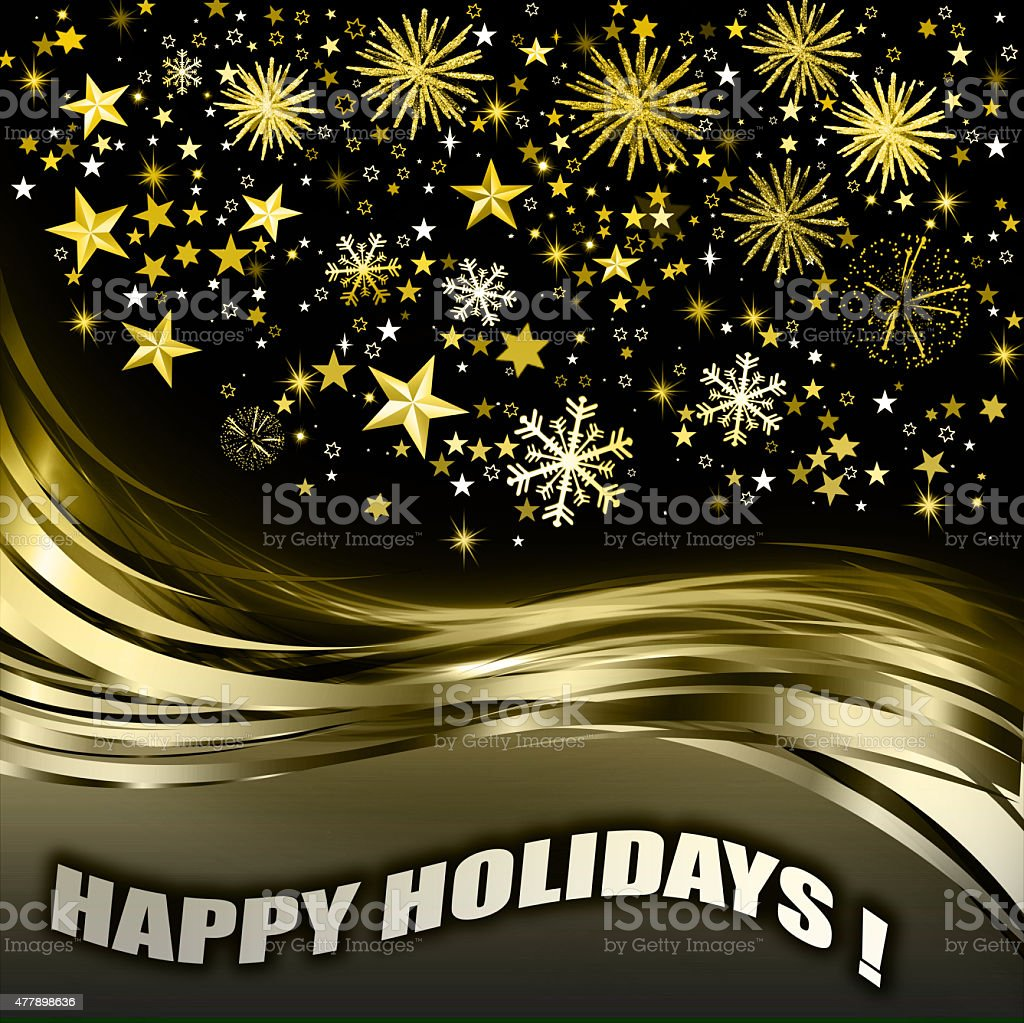 Happy Holidays Greeting Card Message Stock Vector Art 477898636 Istock