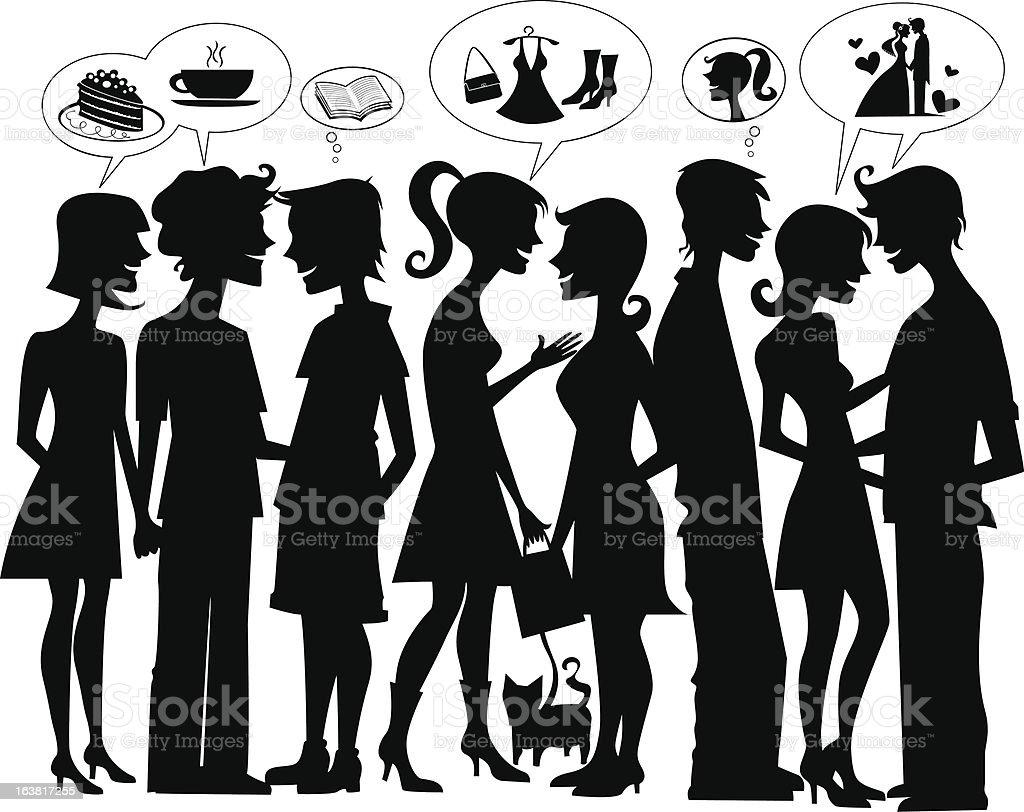 Happy humans vector art illustration