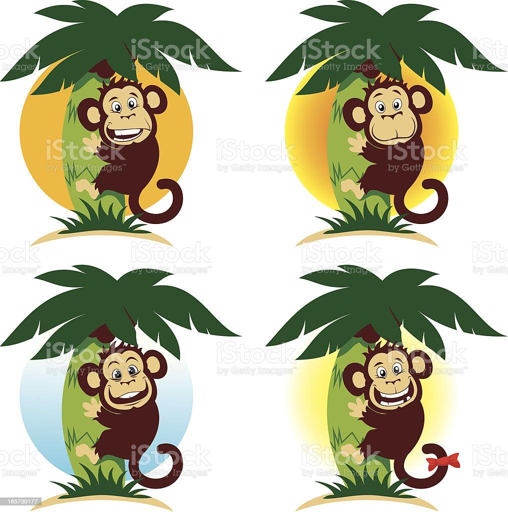Happy monkey royalty-free stock vector art