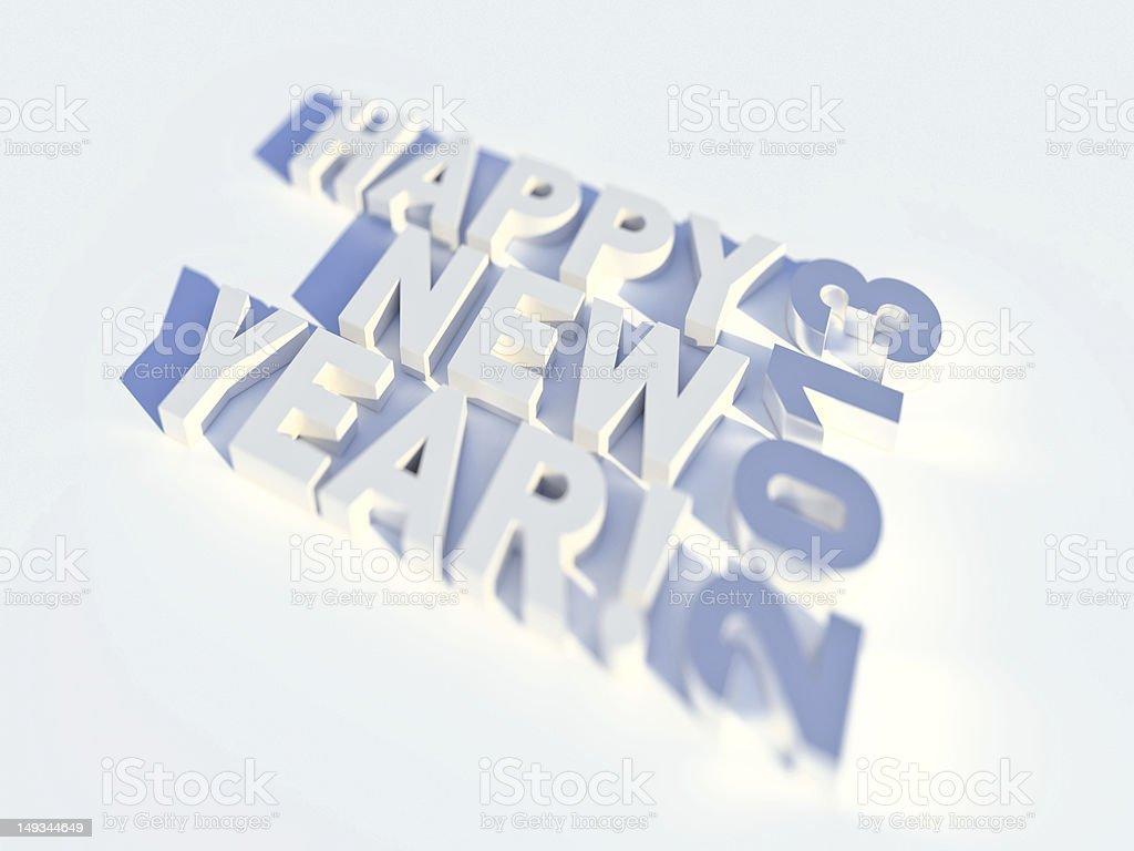 Happy new year 2013 3d vector art illustration