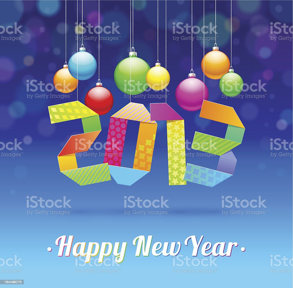 Happy New Year 2013 - holidays vector illustration royalty-free stock vector art