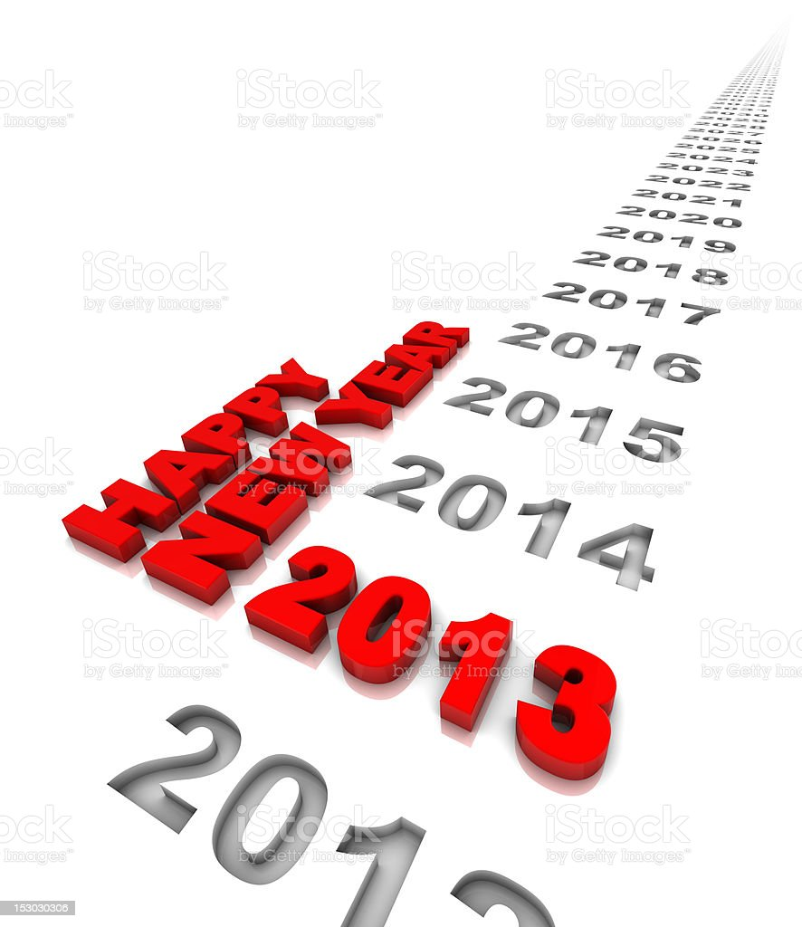 Happy New Year 2013 vector art illustration